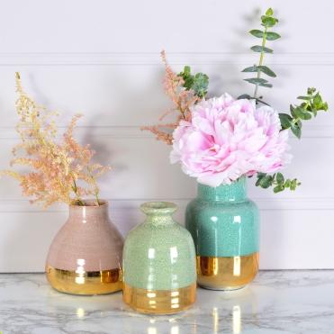 Pastel Lustre Vases (set Of 3)
