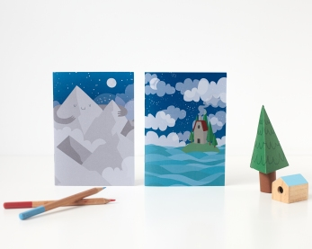 PygmyCloud.etsy.com Mountain Hut Notebooks £3.50