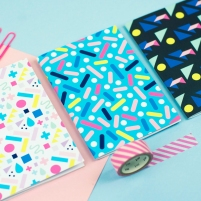 Patterned notebook set
