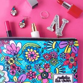 Floral make-up bag