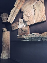 Relics from the original temple's entrance