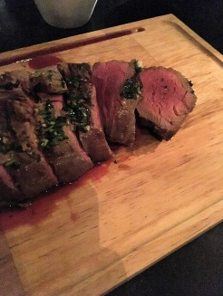 Melt-in-you-mouth Chateaubriand at Gauchos.