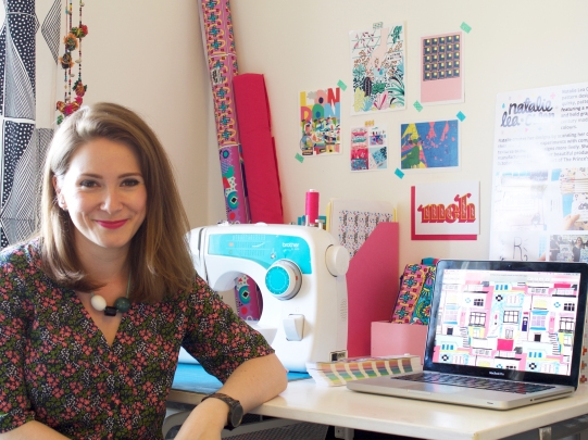 Natalie in her studio