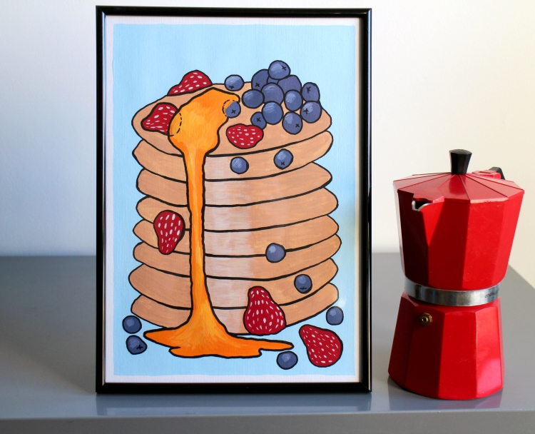 pancake-stack-original-acrylic-painting-by-ian-viggars-c-artfinder