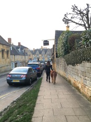 Only in The Cotswolds would you share the footpath with a pony