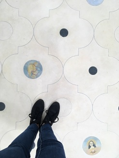 Gorgeous custom flooring.
