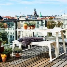 Cane-Line Copenhagen Table & Bench