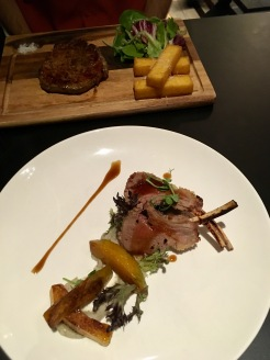 Delicious Australian Rib Eye and Lamb Chops at The Point Restaurant & Bar