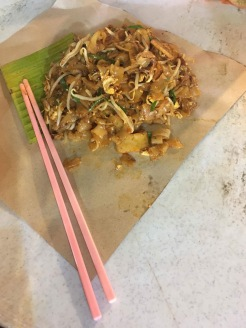 One of my favourite meals so far ... Char Keow Teow served on parchment paper at Bangsar Village Sunday Night Market