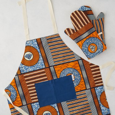 Bespoke Binny Apron and oven glove set