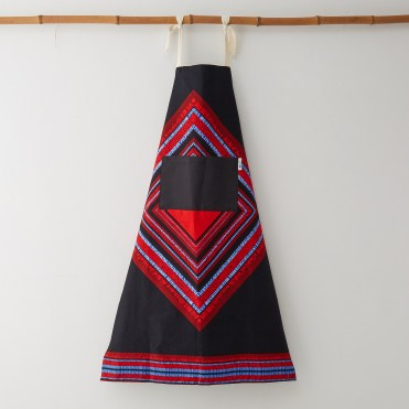 Bespoke Binny black and red african pritn apron